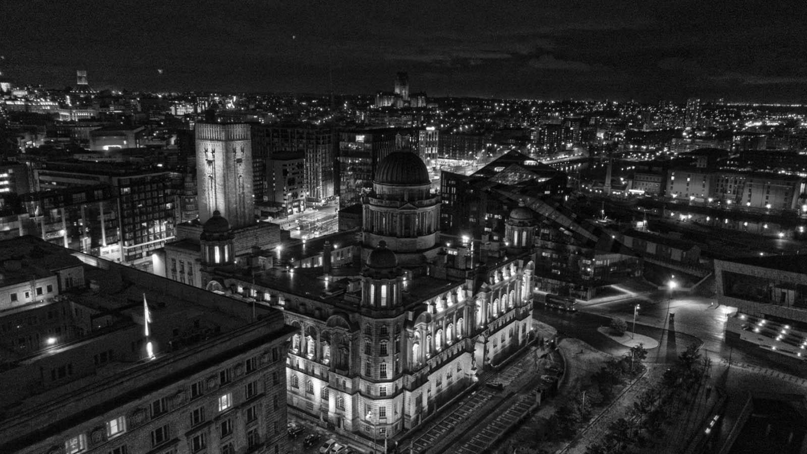 zdjęcie Liverpool z drona