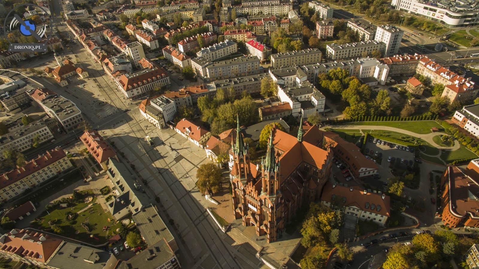 Centrum Białegostoku z drona