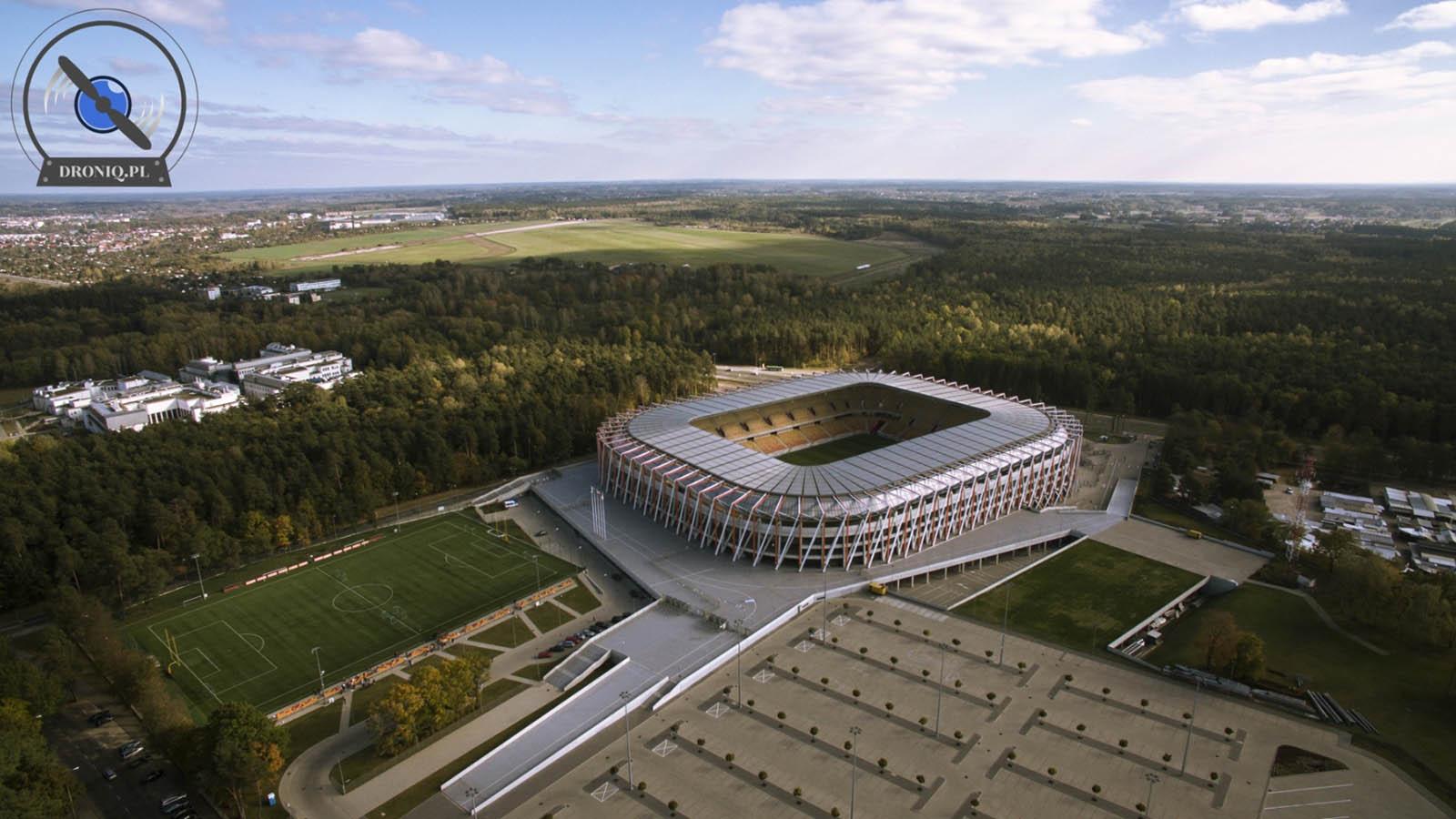 Stadion Jagiellonii Białystok z drona