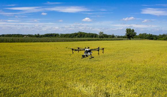 Opryskiwanie dronem Agras